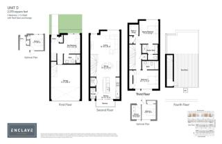 Unit D Plan in Enclave Bucktown, Chicago, IL
