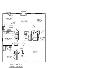 Hollister II Plan in Morgan Creek, Fort Wayne, IN