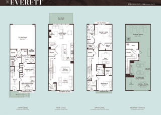 The Everett Townhome Plan in Grosvenor Heights, Bethesda, MD