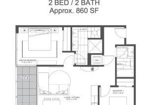 2 bed 2 bath Equis Flats Condo Plan in Equis Flats of Old Town, Chicago, IL