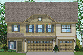 Vanguard - Warwick Plan in Poplar Creek Village, Knightdale, NC