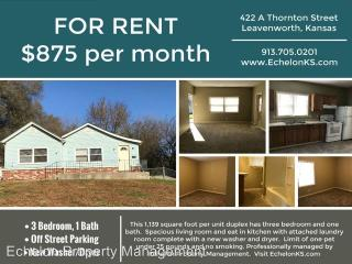422 Thornton St #A, Leavenworth, KS