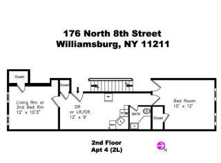 176 North 8th Street #4, Brooklyn NY