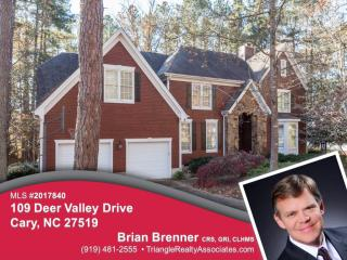 109 Deer Valley Dr, Cary, NC 27519