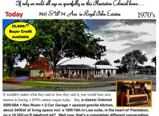 960 Southwest 74th Avenue, Plantation FL