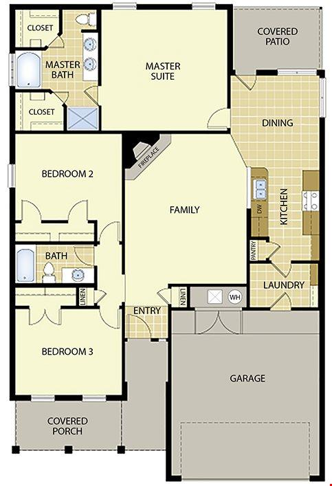 1600 Series Plan For Sale Webb City MO – Mitchell Homes Floor Plans