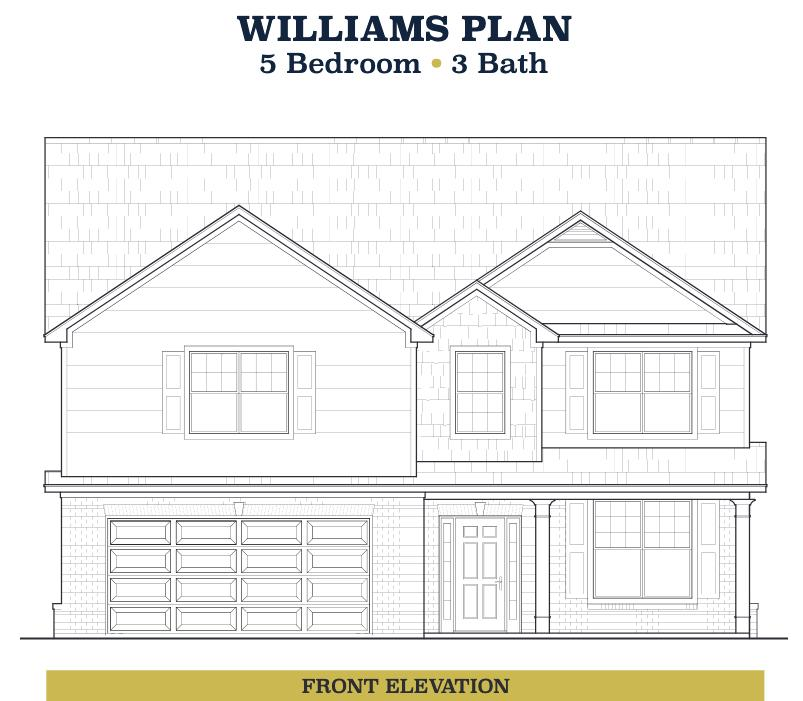 Williams Plan, Lawrenceville, GA 30044 - 5 Bed, 3 Bath Single-Family Home |  Trulia