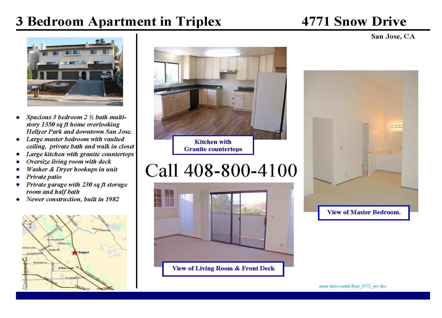 4771 Snow Dr, San Jose, CA 95111 For Rent | Trulia