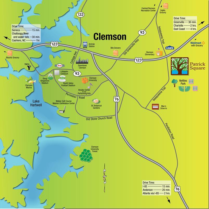 Maps Clemson South Carolina Map Google