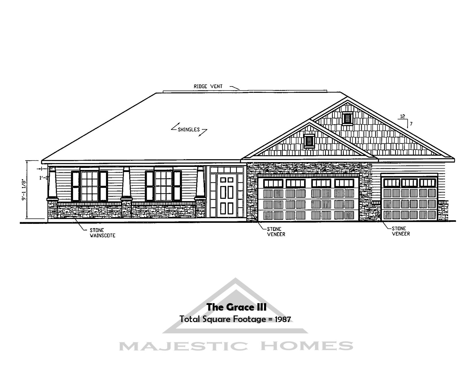 Grace III Plan For Sale Lafayette IN – Majestic Homes Floor Plans