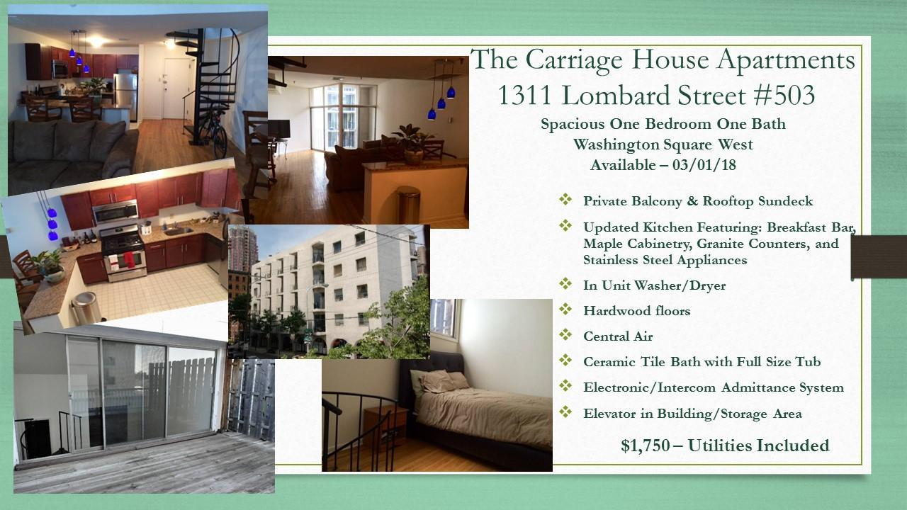 503 The Carriage House Apartments 1311 Lombard St #503 For Rent ...