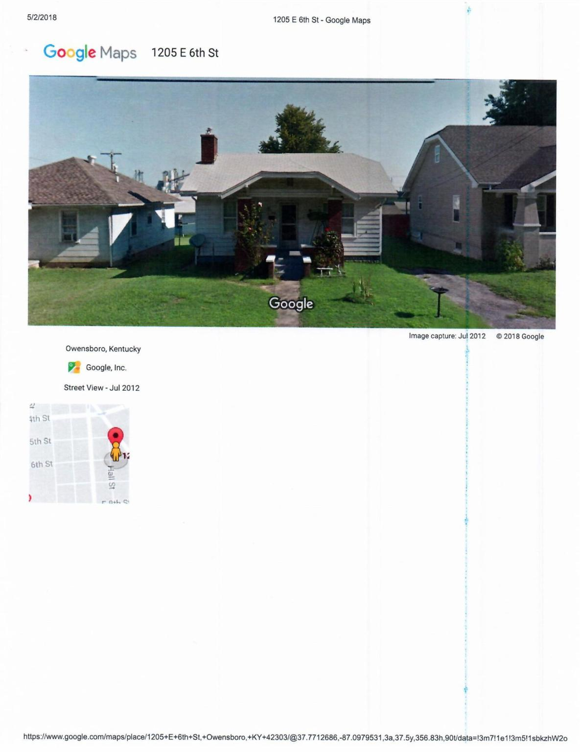1205 e 6th st for rent owensboro ky trulia 2 map view publicscrutiny Choice Image