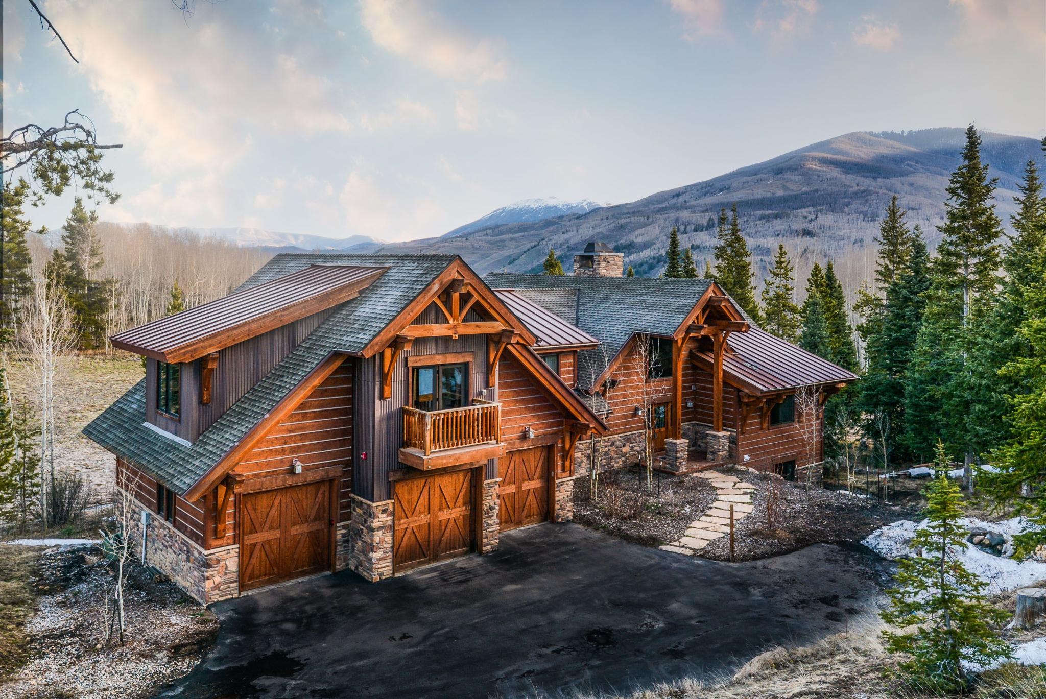 stunning log home wetterhorn sale for uber cabins homes decor colorado trail in peak