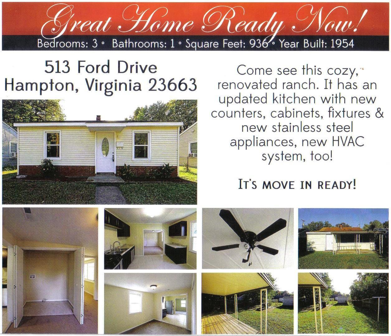 513 Ford Rd For Rent - Hampton, VA   Trulia