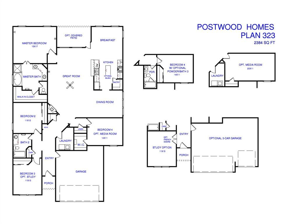 4239 Leafy Bough Ct Humble TX 77346 Estimate and Home Details – Postwood Homes Floor Plans