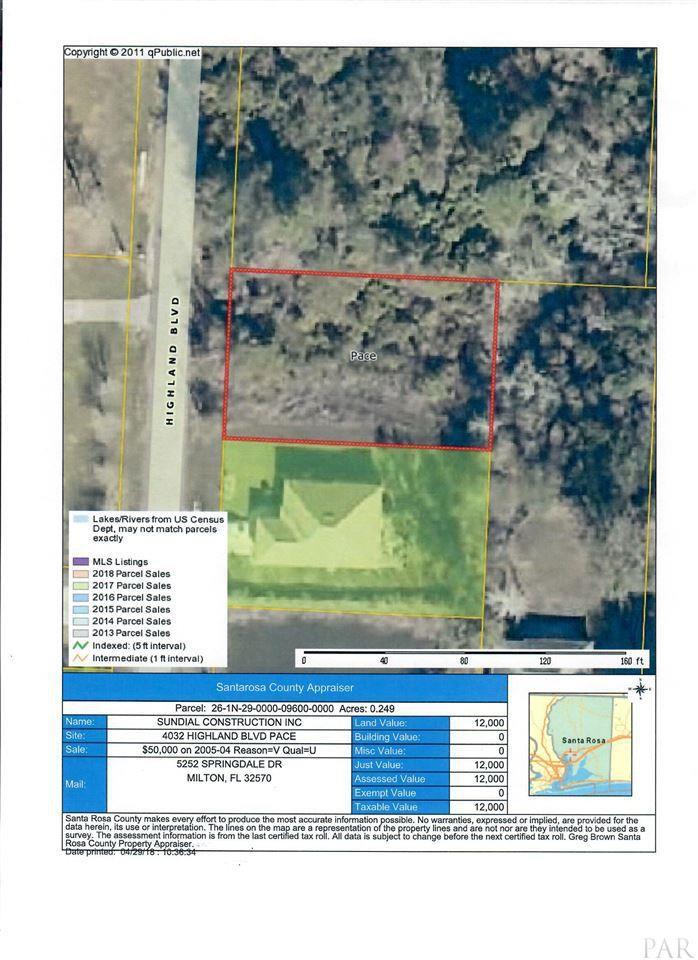 Pace Florida Map.4032 Highland Blvd Pace Fl 32571 Trulia
