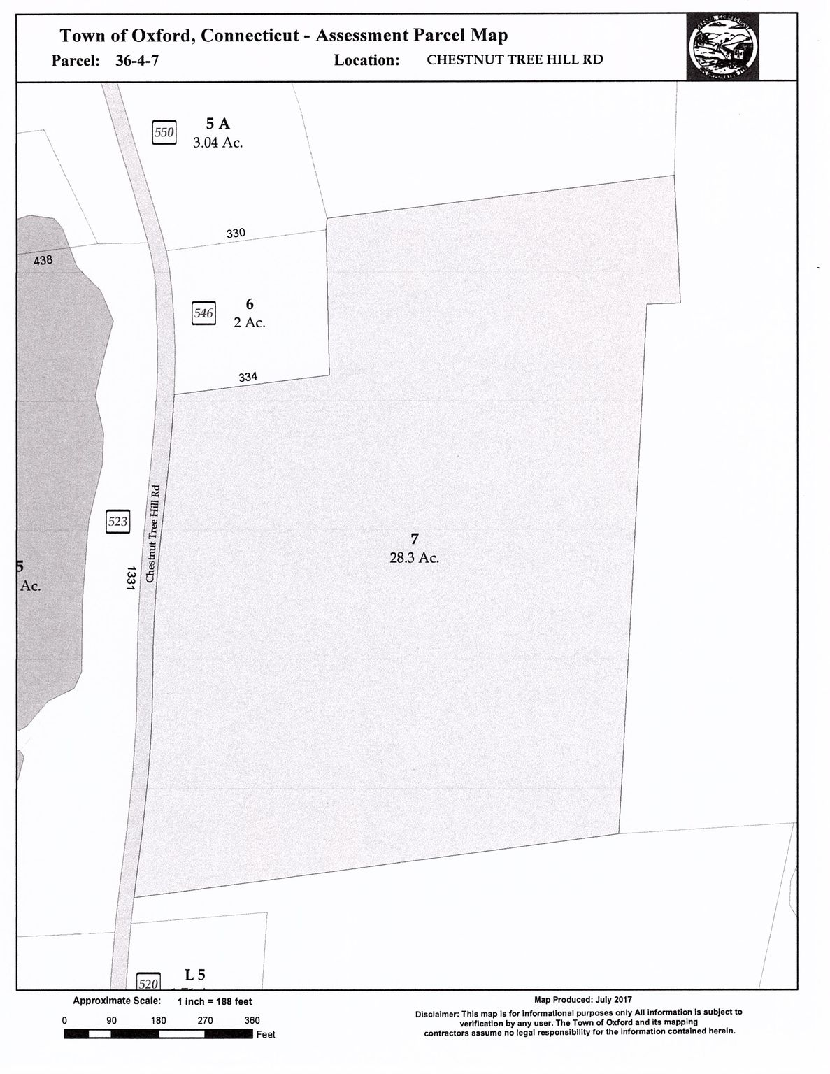 Chestnut Tree Hill Road Map 36 #4-7, Oxford, CT 06478 - Lot/Land ...