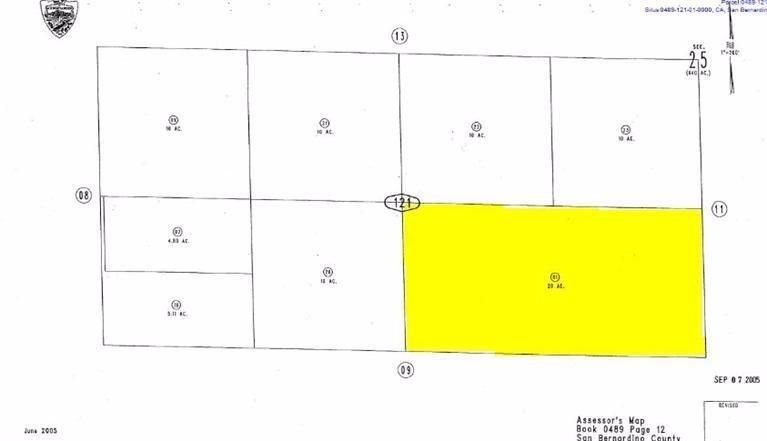 20 Acre Fossil Bed Rd Hinkley Ca 92347 Lot Land Mls 509649