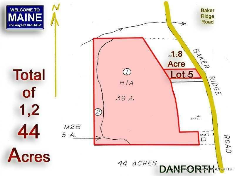 Danforth Maine Map.5 Baker Ridge Rd Danforth Me 04424 Lot Land Mls 1146248