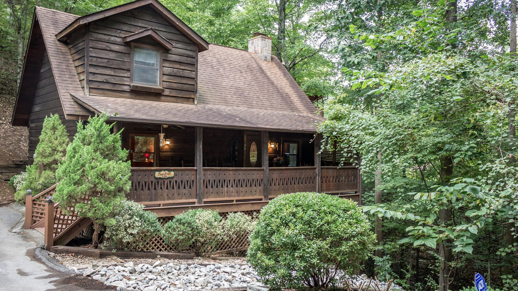 youtube mountains forge sale real for smoky in watch log pigeon cabins estate cabin tn