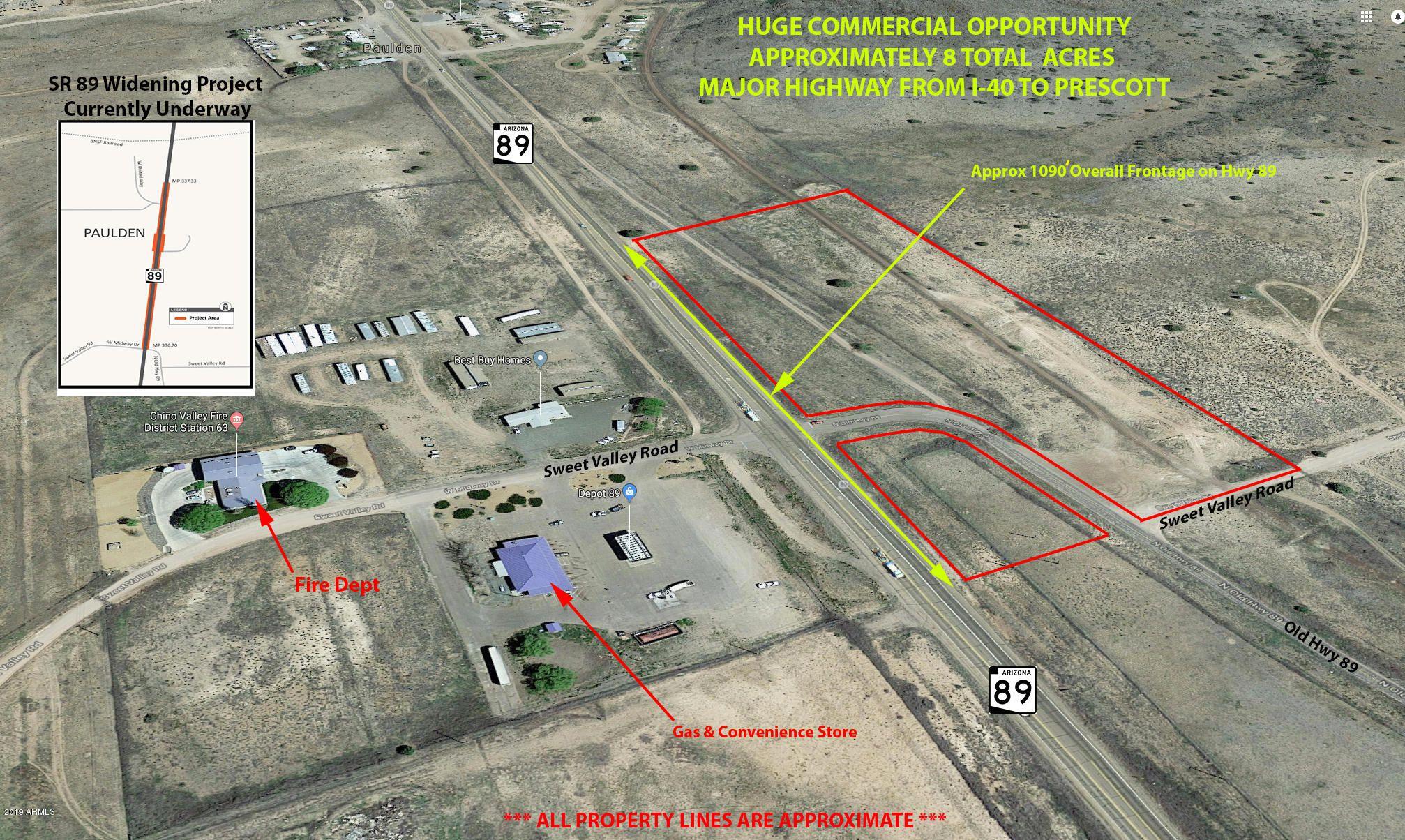 Map Of Highway 89 In Arizona.23155 N State Route 89 Paulden Az 86334 Lot Land Mls
