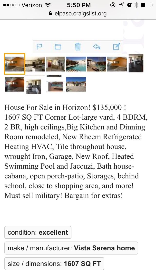 324 Las Colinas Dr Horizon City Tx 79928 4 Bed 2 Bath Single