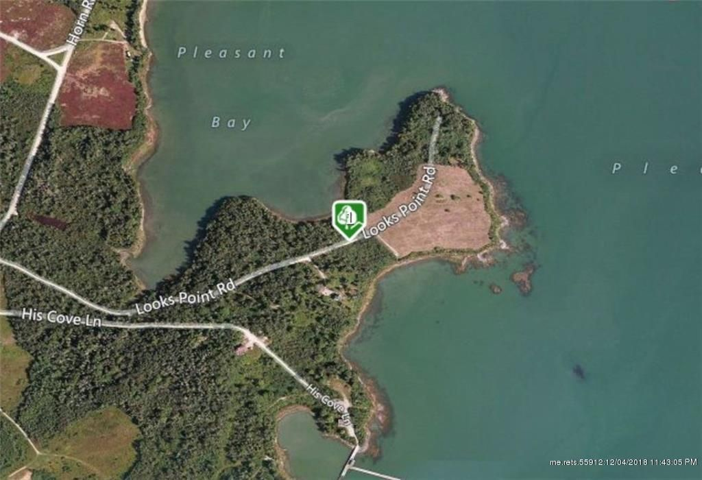 Harrington Maine Map.Looks Point Rd Ne Harrington Me 04643 Lot Land Mls 1297878