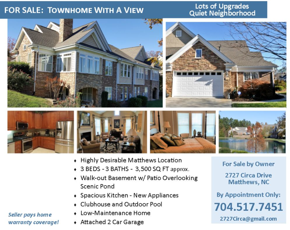 2727 Circa Dr Matthews Nc 28105 4 Bed 3 Bath Townhouse 31