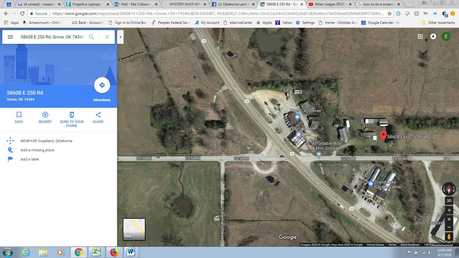 Grove Oklahoma Map.58608 E 250th Rd Grove Ok 74344 2 Bed 2 Bath Mls 18 2424